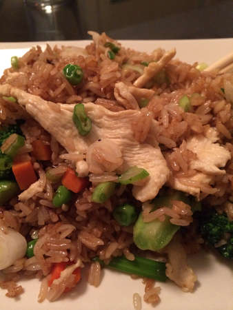 Thai chicken fried rice from Bangkok noodles in cathedral city CA