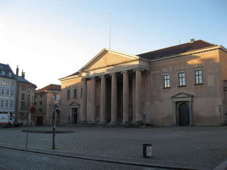 carriageway: Old centre of Copenhagen Stock Photo