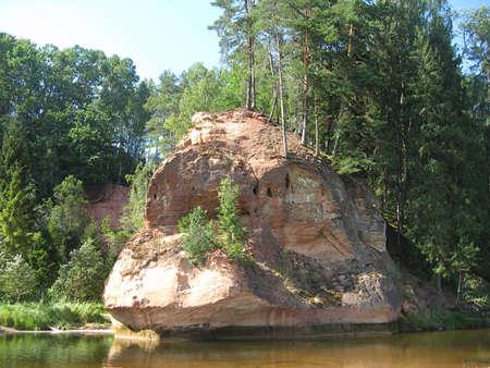 Zvarta rock near Amata river photo