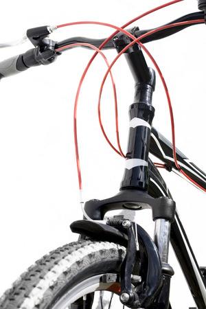 v cycle: Handlebar isolated on a white background