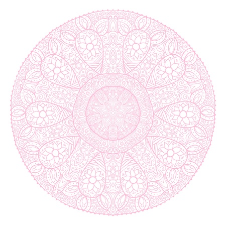 ornamental round lace pattern, circle background with many details, looks like crocheting handmade lace Stock Vector - 11585996