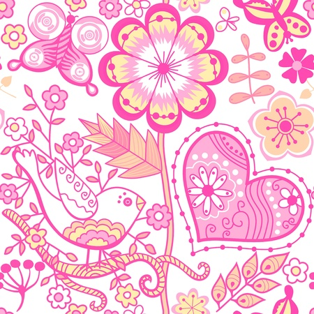 Floral seamless pattern, endless texture with flowers. Vector background for textile design. Vector