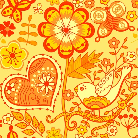Floral seamless pattern, endless texture with flowers. Vector background for textile design. Stock Vector - 11662944