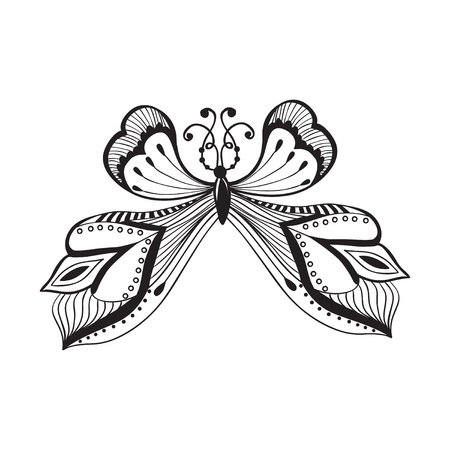 abstract illustration of butterfly, Retro butterfly design Vector