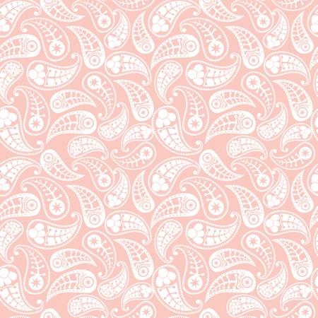 paisley: Bezproblemowa paisley wzór. Ilustracja