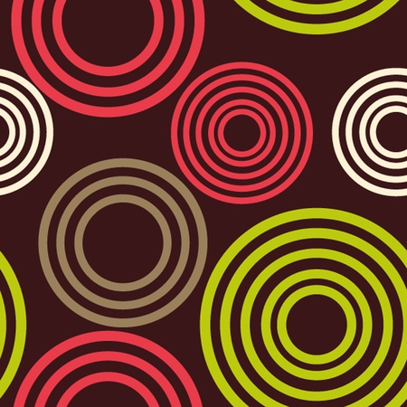 Geometric seamless pattern of circles Vector