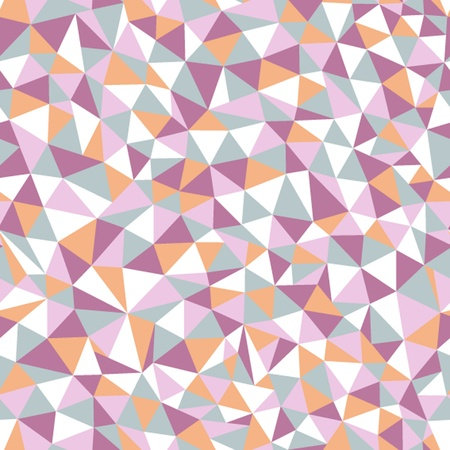 Seamless texture with triangles, mosaic endless pattern Vector