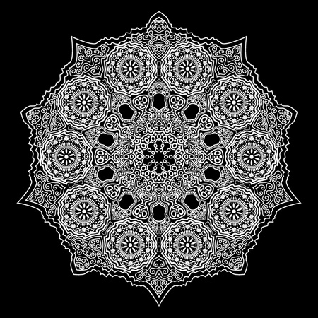 ornamental round lace Stock Vector - 11662763