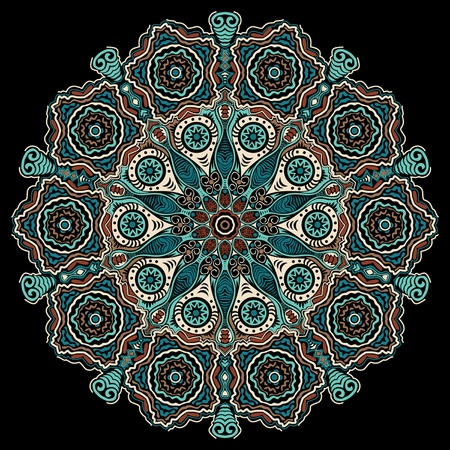 east indian: encaje redonda ornamentales