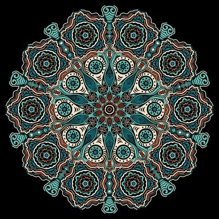 ornamental round lace Stock Vector - 11811091