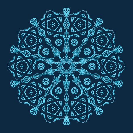 ornamental round lace Stock Vector - 11662761