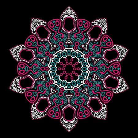 handmade graphic texture: ornamental round lace