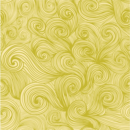 seamless abstract hand-drawn pattern, looks like hair or waves Vector