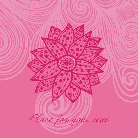 floral decoration: floral background with place for your text
