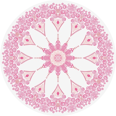 ornamental round lace pattern, circle background with many details, looks like crocheting handmade lace Stock Vector - 14325520