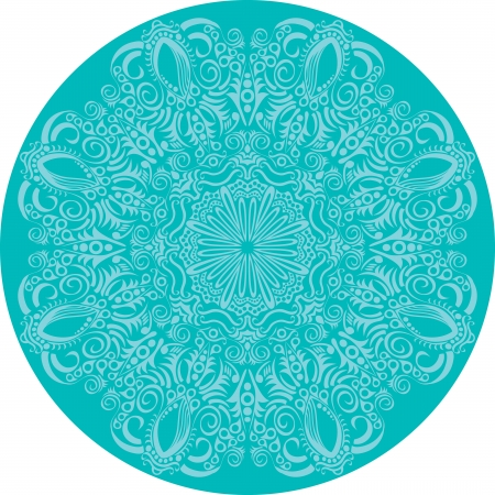 ornamental round lace pattern, circle background with many details, looks like crocheting handmade lace Stock Vector - 14325512