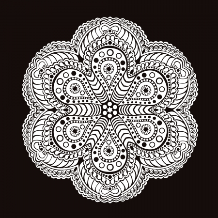 ornamental round lace pattern, circle background with many details, looks like crocheting handmade lace Stock Vector - 15442620
