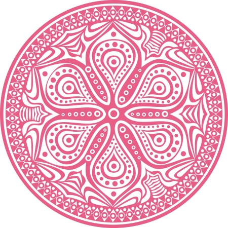 kelet ázsiai kultúra: díszítő kerek csipke minta, kör háttér sok részletet, úgy néz ki, mint a kézzel készített csipke horgolás
