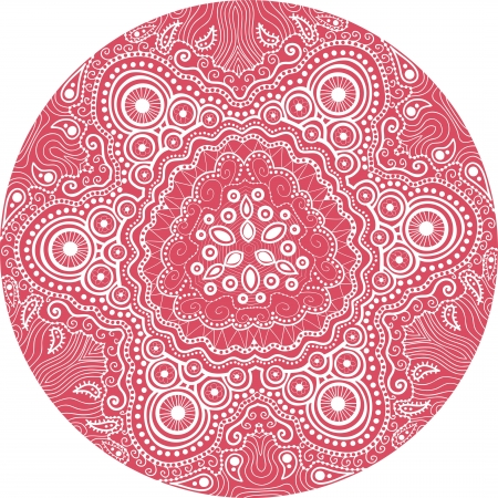 ornamental round lace pattern, circle background with many details, looks like crocheting handmade lace Stock Vector - 15442710