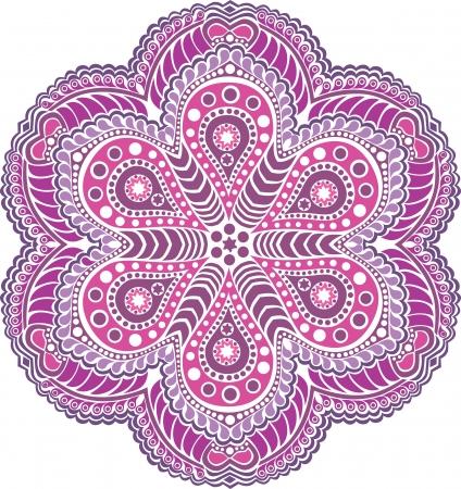 sier ronde kantpatroon, cirkel achtergrond met veel details, ziet eruit als haken handgemaakte kant