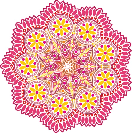 ornamental round lace pattern, circle background with many details, looks like crocheting handmade lace Stock Vector - 15442688