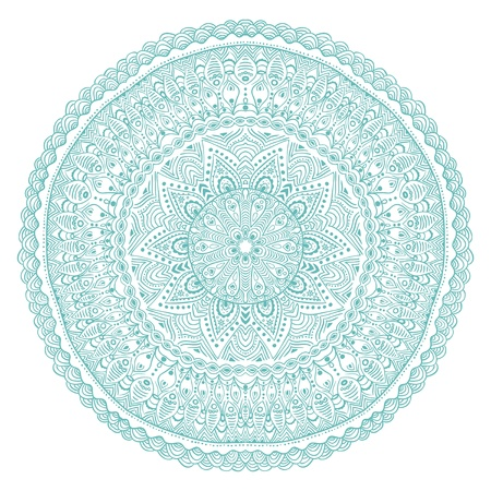 ornamental round lace pattern, circle background with many details, looks like crocheting handmade lace Stock Vector - 15442793
