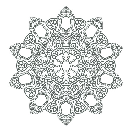 ornamental round lace pattern, circle background with many details, looks like crocheting handmade lace Stock Vector - 15443382