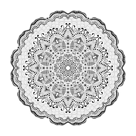 ornamental round lace pattern, circle background with many details, looks like crocheting handmade lace Stock Vector - 15443827