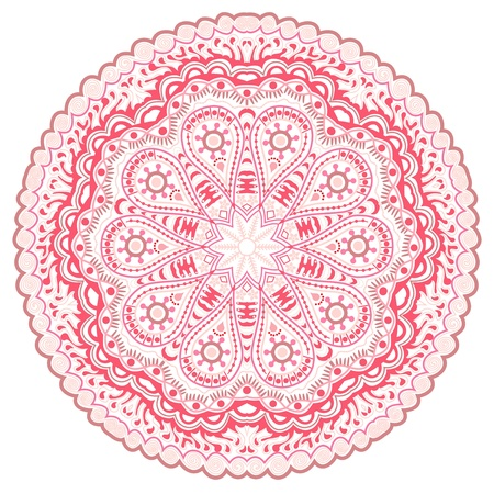 ornamental round lace pattern, circle background with many details, looks like crocheting handmade lace Stock Vector - 15443849