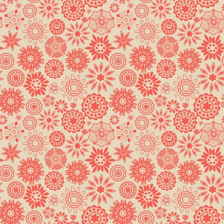christmas seamless pattern: Floral seamless pattern with flowers.  Illustration