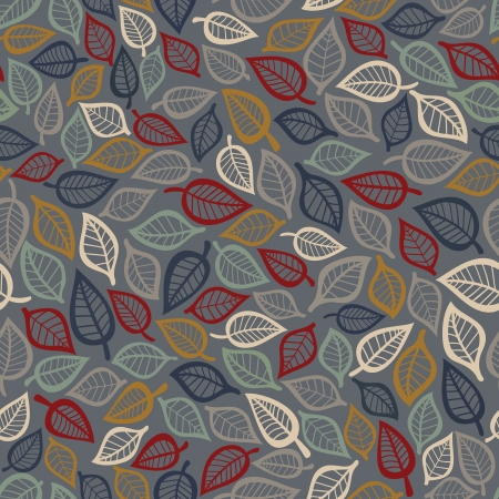 drawing on the fabric: Summer seamless leaf pattern. Illustration