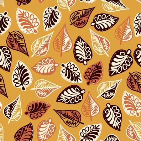 forrest: Summer seamless leaf pattern. Illustration