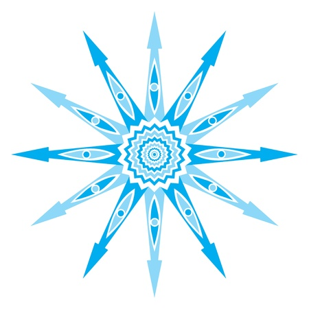 original snowflake, lace Vector