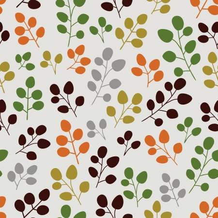 forrest: seamless leaves pattern background Illustration