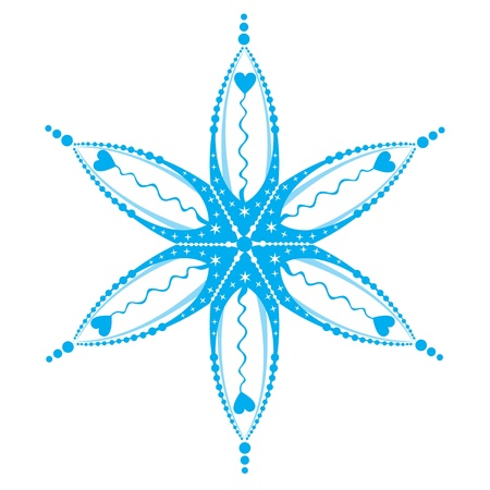 snowflake isolated on white Vector
