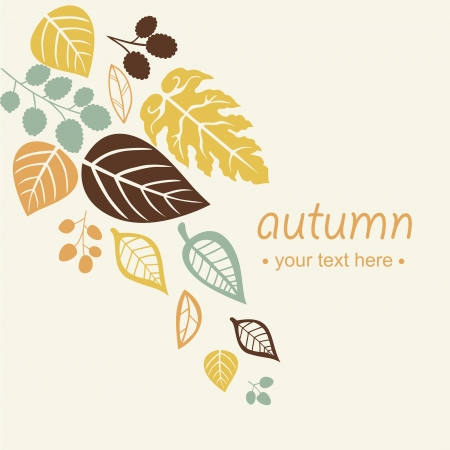 Achtergrond bladeren van de herfst  Stock Illustratie