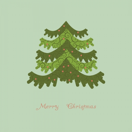 vector abstract christmas tree Stock Vector - 21240692