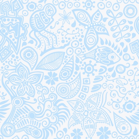 animal print background: Vector seamless pattern with ethnic ornament