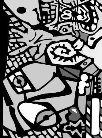 crazy face: Abstract background in graffiti style