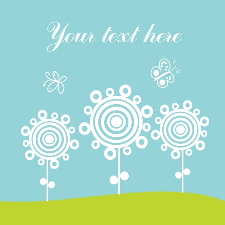 Greeting card, spring theme. Vector