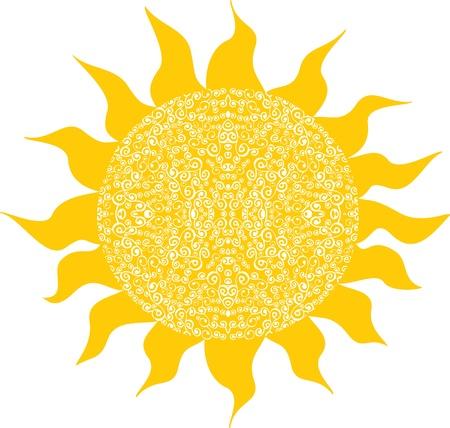 stylishness: Stylized sun, symbol design