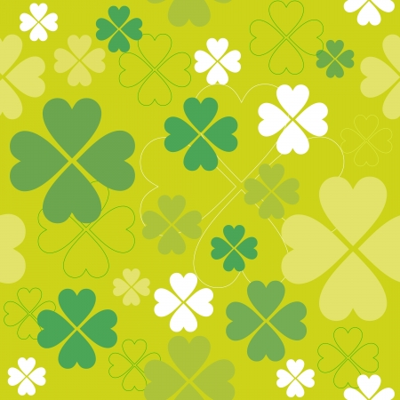 Shamrock vector seamless pattern. Clover backdrop. Vector