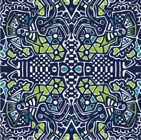 chaos theory: Psychedelic abstraction background, symmetric pattern  wallpaper. Vector