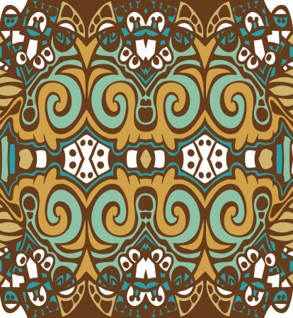 Psychedelic abstraction background, symmetric pattern, vector wallpaper Illustration