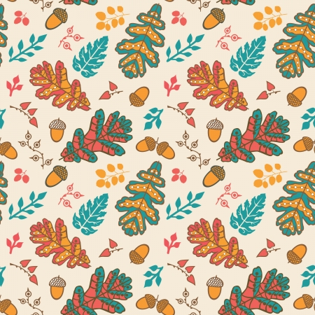 Seamless pattern with leaf and acorns. Copy that square to the side and youll get seamlessly tiling pattern which gives the resulting image the ability to be repeated or tiled without visible seams. Vector