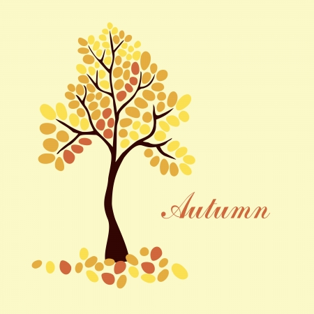 Autumn tree, element for your design Vector