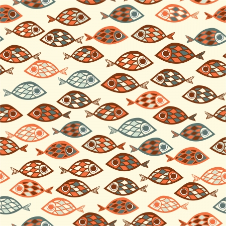 tail fin: Fish pattern in abstract style