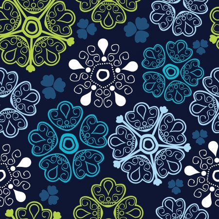 blue daisy: Seamless texture with flowers. Endless floral pattern. Seamless pattern can be used for wallpaper, pattern fills, web page background, surface textures.