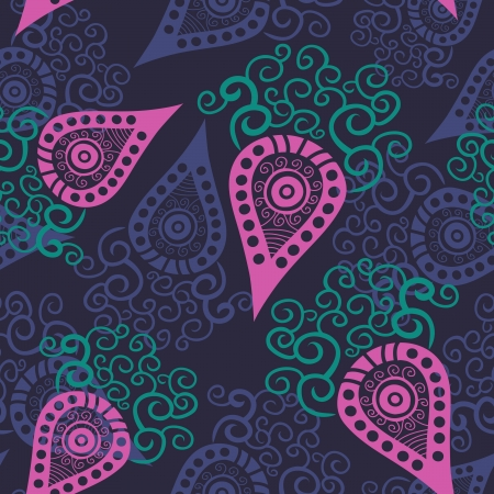 orange swirl: Seamless paisley texture for your design.