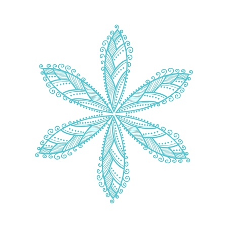 original vector snowflake, lace Vector